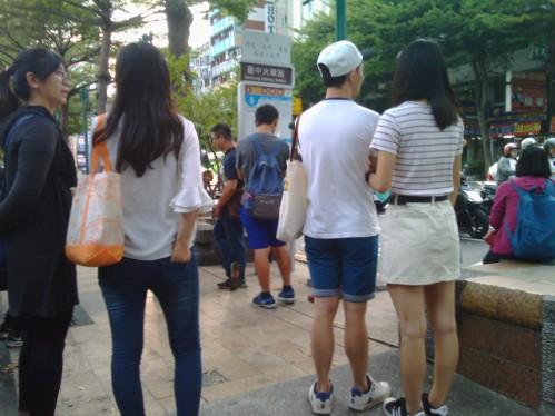 台湾の10月の服装‐ミニスカート