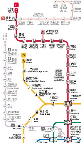 淡水への行き方‐MRT淡水站
