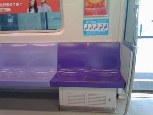 桃園MRTの列車内の特徴